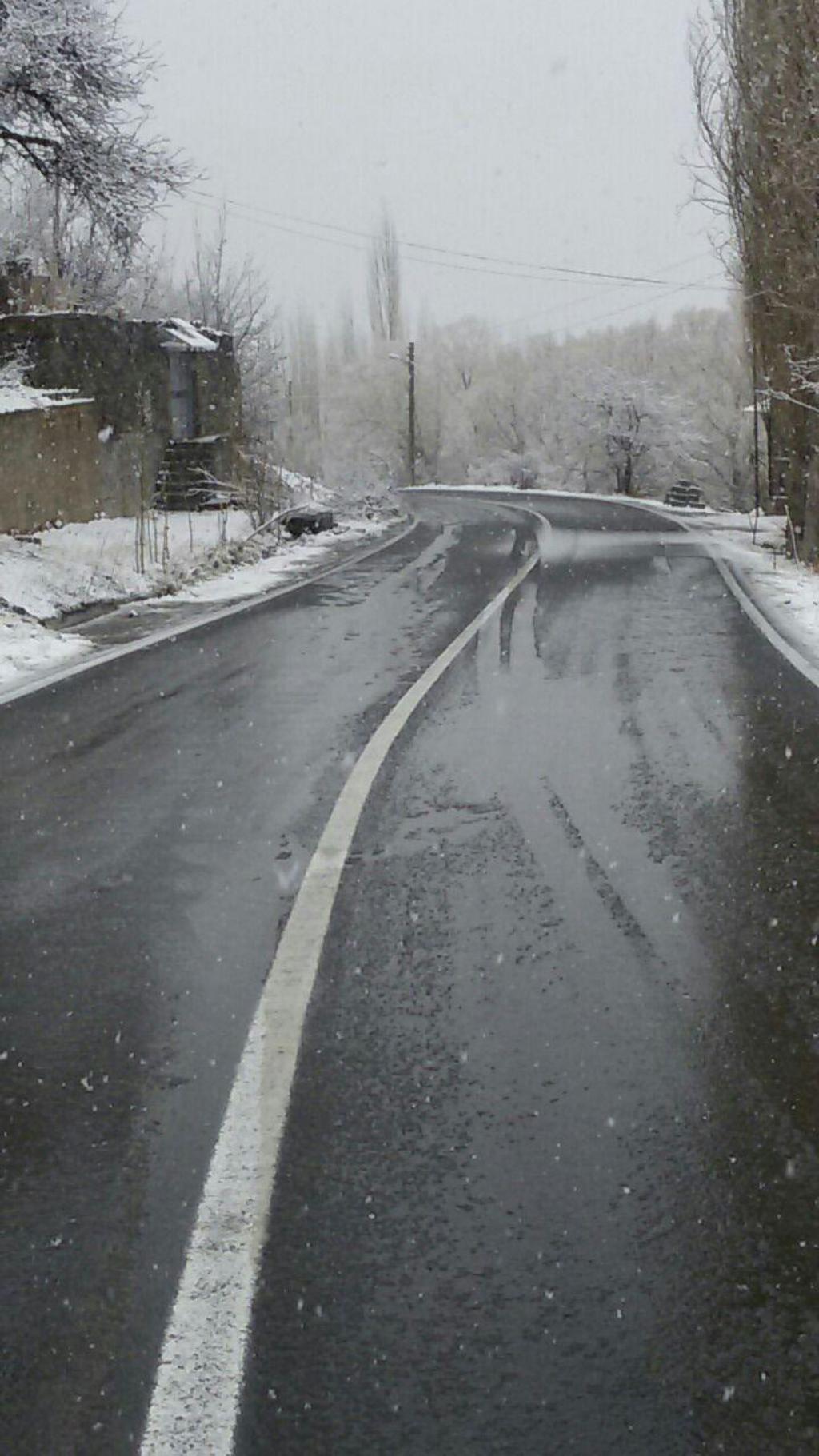 شروع سال جدید با هوای برفی
