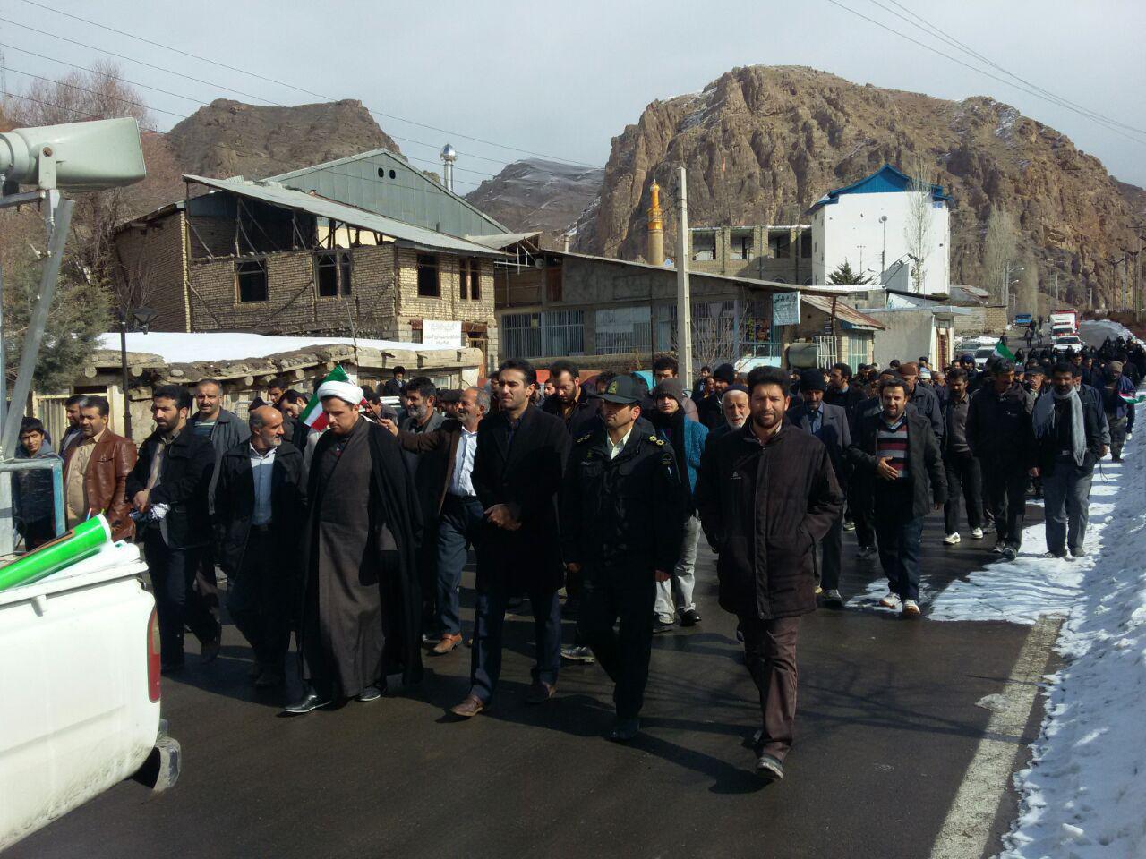 راهپیمایی 22 بهمن در بلده
