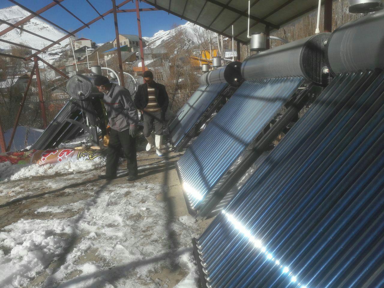 عایق کاری لوله های حمام خورشیدی